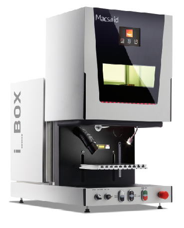 Self contained workstation for laser marking